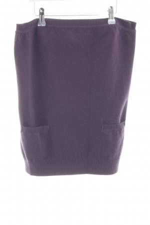 Sportmax Strickrock lila Casual-Look Wolle