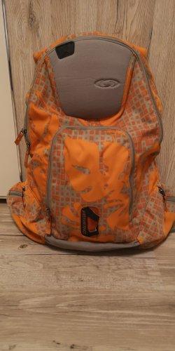 Salomon Sporttas grijs-bruin-oranje