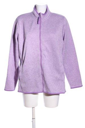 Veste polaire violet moucheté style décontracté