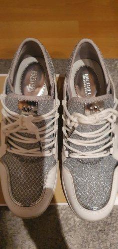 Michael Kors Sneaker con tacco bianco-argento