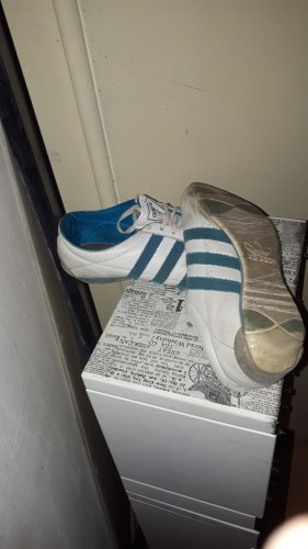 Adidas Originals Veterschoenen wit-blauw