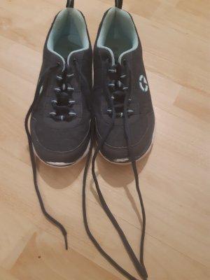 Graceland Lace Shoes dark grey-light blue
