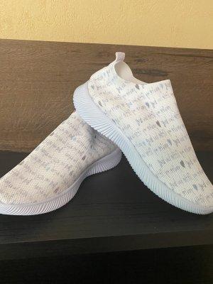 100% Fashion Sneakersy wciągane biały