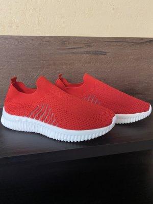 100% Fashion Sneakersy wciągane czerwony