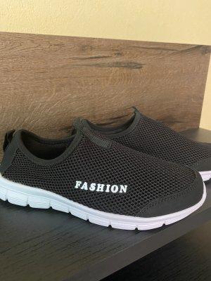 100% Fashion Sneakersy wciągane czarny
