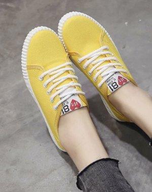 100% Fashion Instapsneakers geel