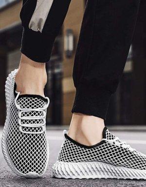 100% Fashion Mocasines gris claro