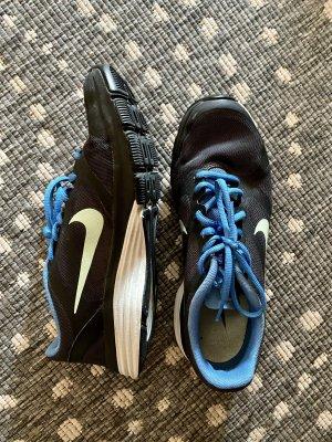 Sportschuhe, Nike, schwarz/blau, kaum getragen