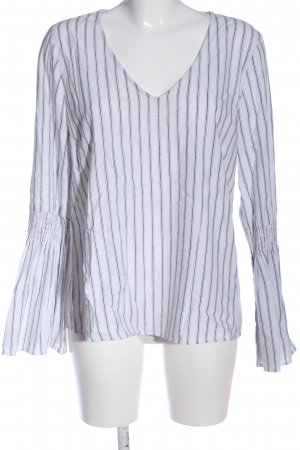 Sportsgirl Long Sleeve Blouse white-black striped pattern business style