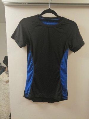 Athmosphere Koszulka sportowa czarny-niebieski Poliester