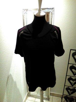Alex Athletics Sportshirt zwart-roze Gemengd weefsel
