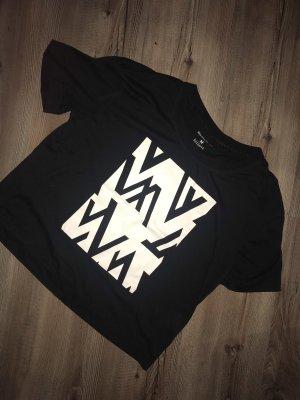 Reebok Maglietta sport bianco-nero