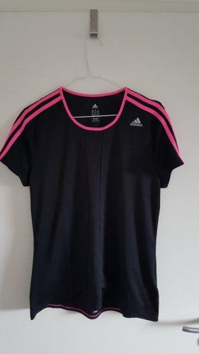 Adidas Koszulka sportowa czarny-różowy Poliester