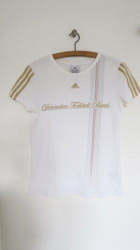 Adidas Koszulka sportowa biały-złoto