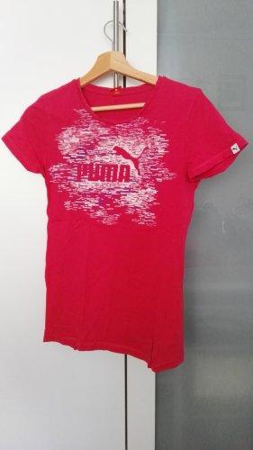Puma Sportshirt wit-magenta