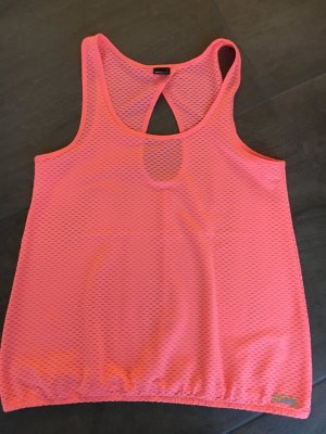 Gina Tricot Sportshirt neonoranje-roze Polyester