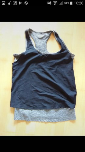 Tchibo / TCM Muscle Shirt black-grey