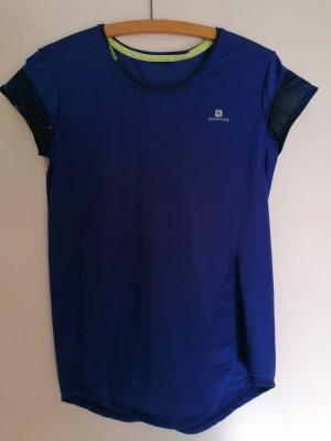Decathlon Sportshirt neongeel-blauw