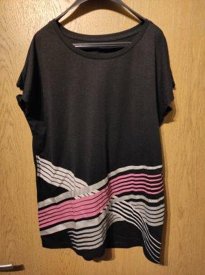 Ergee T-shirt de sport noir-magenta polyester