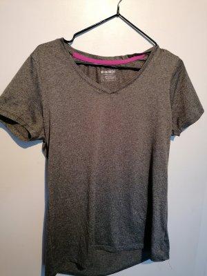 Sportshirt, Tshirt, Tshirt grau, Trainingsshirt, grau meliert