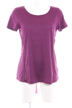 Sports Shirt violet flecked athletic style