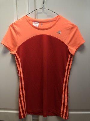 Adidas Maglietta sport arancio neon-rosso mattone
