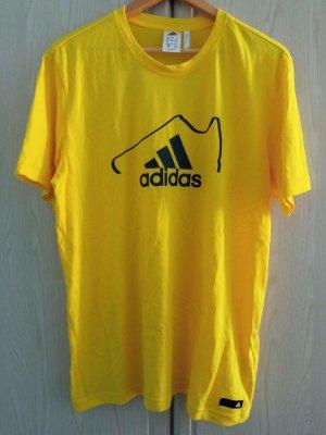 Adidas T-shirt de sport jaune coton