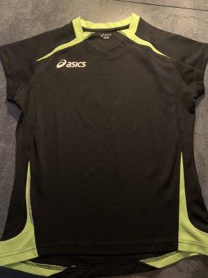 Asics Sports Shirt black-neon green
