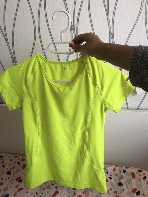 H&M T-shirt de sport jaune fluo