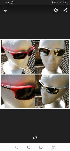 Oval Sunglasses white-raspberry-red