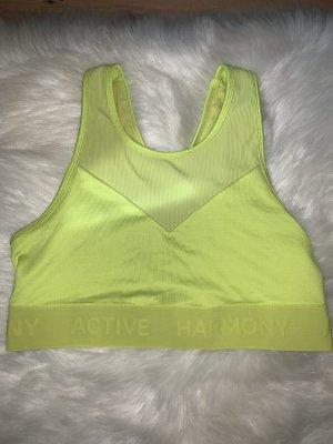 active Top deportivo sin mangas amarillo neón-verde neón