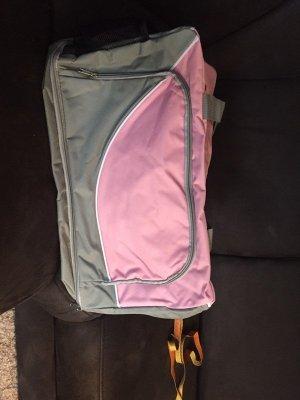 KANIA Sac de sport vieux rose-argenté tissu mixte