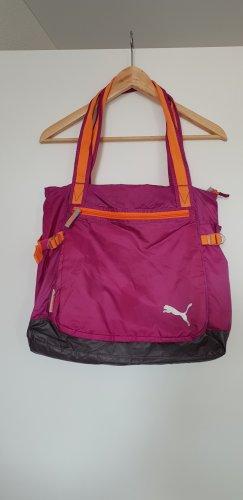Puma Bolsa de gimnasio naranja neón-rosa