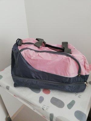 Bolsa de gimnasio gris-rosa claro