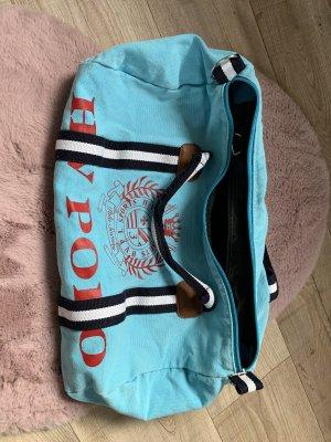 HV Polo Sporttas rood-lichtblauw