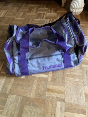 Hummel Sporttas grijs-blauw-paars