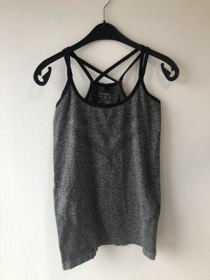 Workout Maglietta sport nero-grigio