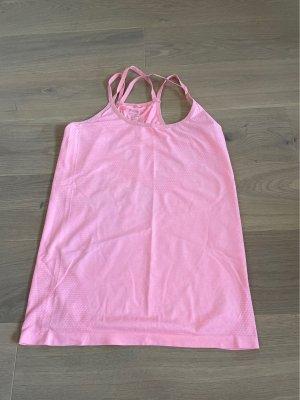 Workout Top sportowy łosowiowy-jasny różowy