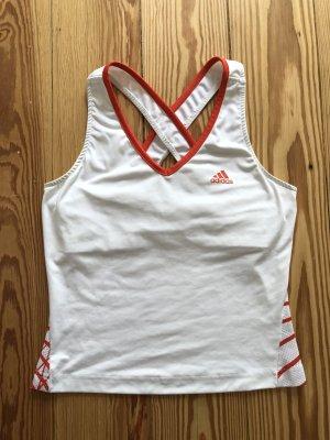 Adidas Top sportowy biały-pomarańczowy