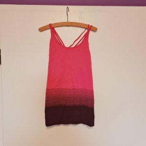 Camisa deportiva rosa-púrpura poliamida