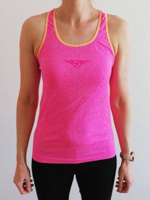 Canotta sportiva albicocca-rosa