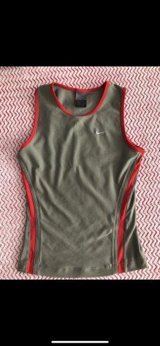Nike Débardeur de sport kaki-rouge