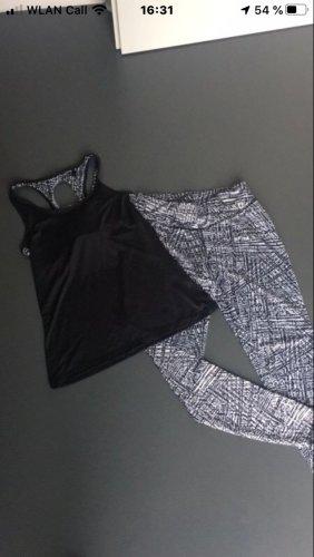 Crivit Pantalone da ginnastica nero-bianco