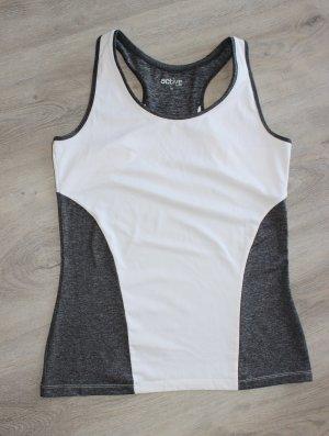 active Canotta sportiva bianco-grigio scuro