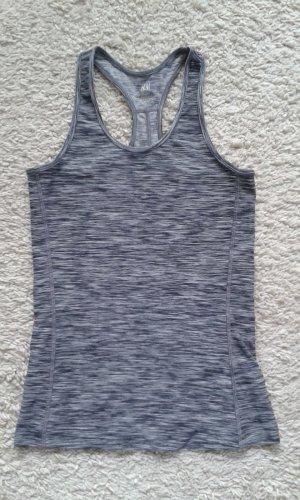 H&M Débardeur de sport gris clair-gris polyester