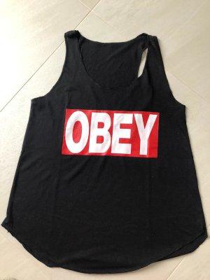 obey Sports Shirt black polyester