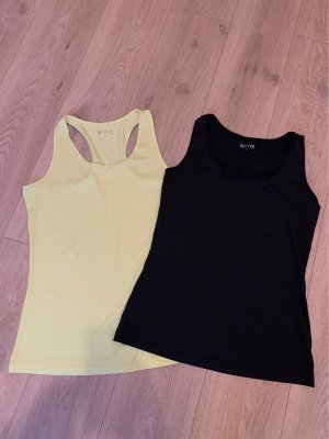 active ESSENTIALS by TCHIBO Sports Tank black-pale yellow