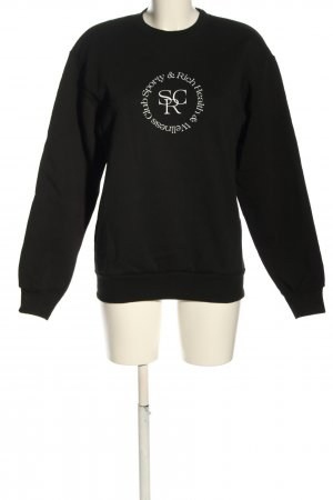 sporty & rich Sweatshirt schwarz Motivdruck Casual-Look