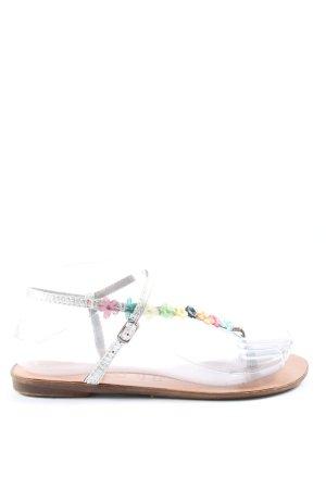 Spot Sandalias Dianette color plata look casual