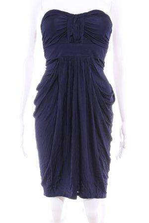 Spotlight by Warehouse Vestido bustier azul oscuro look efecto mojado
